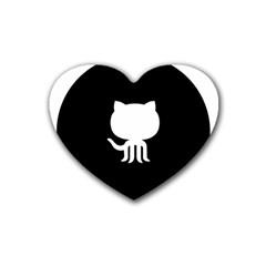 Logo Icon Github Rubber Coaster (heart)