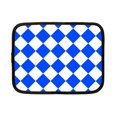 Blue White Diamonds Seamless Netbook Case (small)