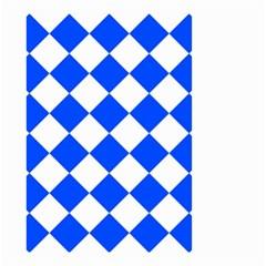 Blue White Diamonds Seamless Small Garden Flag (two Sides)