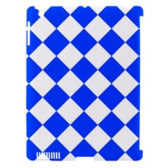 Blue White Diamonds Seamless Apple Ipad 3/4 Hardshell Case (compatible With Smart Cover)