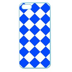 Blue White Diamonds Seamless Apple Seamless Iphone 5 Case (color)