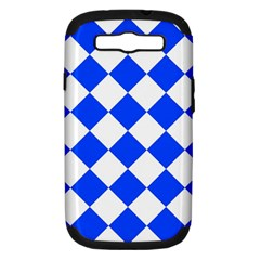Blue White Diamonds Seamless Samsung Galaxy S Iii Hardshell Case (pc+silicone)