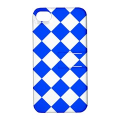 Blue White Diamonds Seamless Apple Iphone 4/4s Hardshell Case With Stand