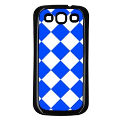 Blue White Diamonds Seamless Samsung Galaxy S3 Back Case (black)