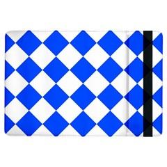 Blue White Diamonds Seamless Ipad Air Flip
