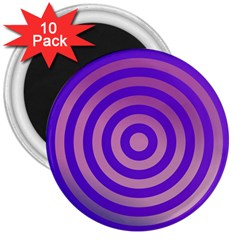 Circle Target Focus Concentric 3  Magnets (10 Pack)
