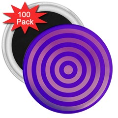 Circle Target Focus Concentric 3  Magnets (100 Pack)