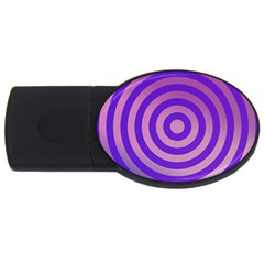 Circle Target Focus Concentric Usb Flash Drive Oval (2 Gb)