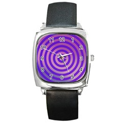 Circle Target Focus Concentric Square Metal Watch