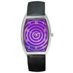 Circle Target Focus Concentric Barrel Style Metal Watch
