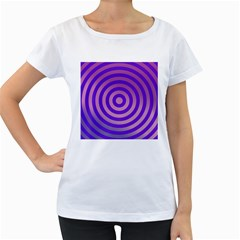 Circle Target Focus Concentric Women s Loose Fit T Shirt (white)