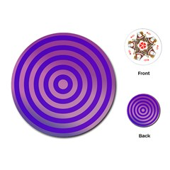 Circle Target Focus Concentric Playing Cards (round)