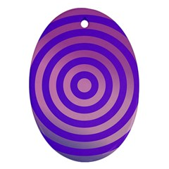 Circle Target Focus Concentric Oval Ornament (two Sides)