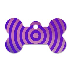 Circle Target Focus Concentric Dog Tag Bone (two Sides)