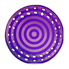 Circle Target Focus Concentric Round Filigree Ornament (two Sides)