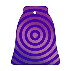 Circle Target Focus Concentric Bell Ornament (two Sides)
