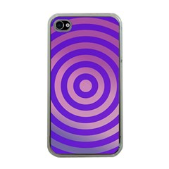Circle Target Focus Concentric Apple Iphone 4 Case (clear)