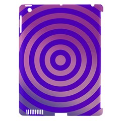 Circle Target Focus Concentric Apple Ipad 3/4 Hardshell Case (compatible With Smart Cover)
