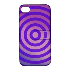 Circle Target Focus Concentric Apple Iphone 4/4s Hardshell Case With Stand