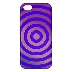 Circle Target Focus Concentric Apple Iphone 5 Premium Hardshell Case
