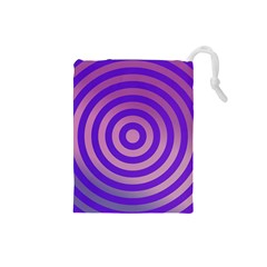 Circle Target Focus Concentric Drawstring Pouches (small)