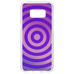 Circle Target Focus Concentric Samsung Galaxy S8 White Seamless Case