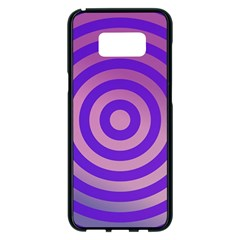 Circle Target Focus Concentric Samsung Galaxy S8 Plus Black Seamless Case