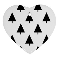 Scrap Background Spruce Christmas Heart Ornament (two Sides)