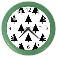 Scrap Background Spruce Christmas Color Wall Clocks