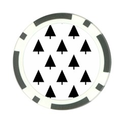 Scrap Background Spruce Christmas Poker Chip Card Guard