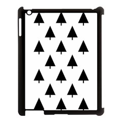 Scrap Background Spruce Christmas Apple Ipad 3/4 Case (black)
