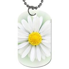 Art Daisy Flower Art Flower Deco Dog Tag (one Side)