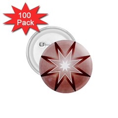 Star Christmas Festival Decoration 1 75  Buttons (100 Pack)