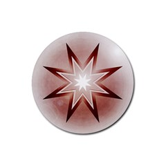 Star Christmas Festival Decoration Rubber Round Coaster (4 Pack)