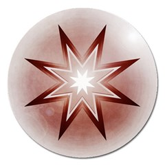 Star Christmas Festival Decoration Magnet 5  (round)