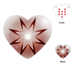 Star Christmas Festival Decoration Playing Cards (heart)