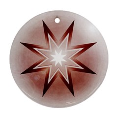 Star Christmas Festival Decoration Round Ornament (two Sides)