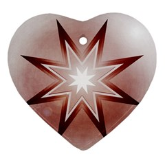 Star Christmas Festival Decoration Heart Ornament (two Sides)