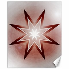 Star Christmas Festival Decoration Canvas 11  X 14