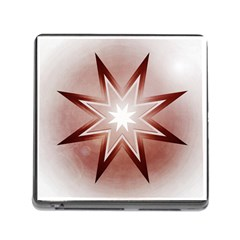 Star Christmas Festival Decoration Memory Card Reader (square)