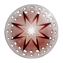 Star Christmas Festival Decoration Round Filigree Ornament (two Sides)