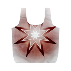 Star Christmas Festival Decoration Full Print Recycle Bags (m)