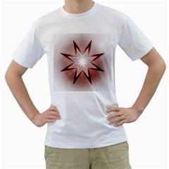 Star Christmas Festival Decoration Men s T Shirt (white)