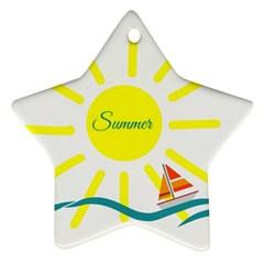 Summer Beach Holiday Holidays Sun Ornament (star)