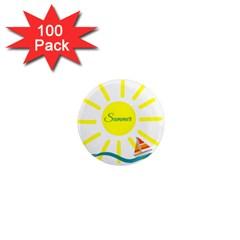 Summer Beach Holiday Holidays Sun 1  Mini Magnets (100 Pack)