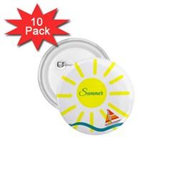 Summer Beach Holiday Holidays Sun 1 75  Buttons (10 Pack)