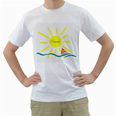 Summer Beach Holiday Holidays Sun Men s T Shirt (white) (two Sided)