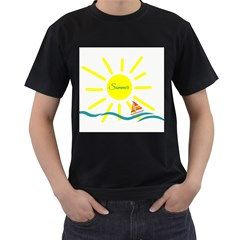 Summer Beach Holiday Holidays Sun Men s T Shirt (black) (two Sided)