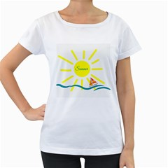 Summer Beach Holiday Holidays Sun Women s Loose Fit T Shirt (white)
