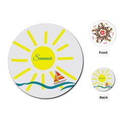 Summer Beach Holiday Holidays Sun Playing Cards (round)